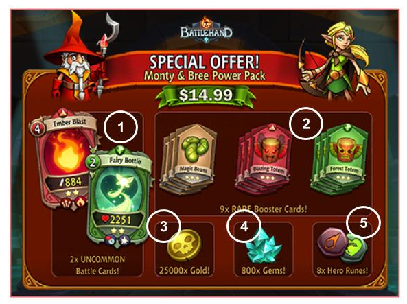 BattleHand special offer wall