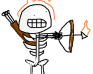 Play Bad game featureing a Skeleton who is on fire shooting arrows at wooden ships.
