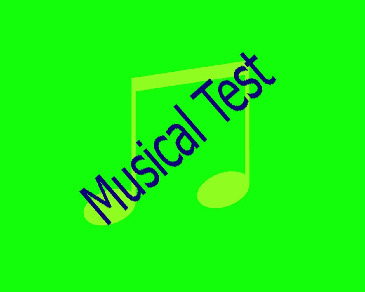 Play Musical test