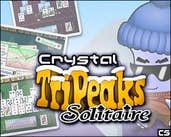 Play Crystal TriPeaks Solitaire