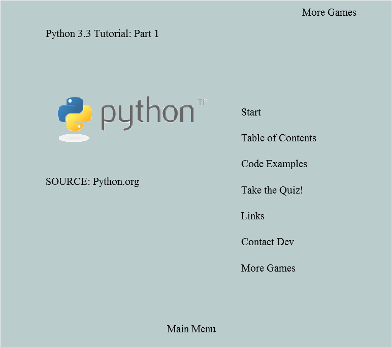Play Python 3.3 Tutorial: Part 1