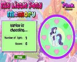 Play My Little Pony Memory