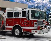 Play Winter Firefighters Truck