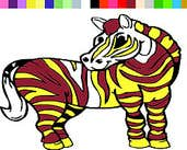 Play Alone Zebra Coloring Game