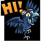 F3   crow hello   subject