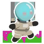 Astronaut frolick