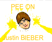 Play Pee on Justin Bieber