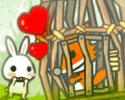 Play rabbit love wolf