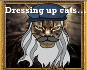 Play A game about dressing up cats as historical characters