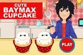 Play Cute Baymax Cupcake