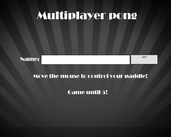 Play Multiplayer Pong