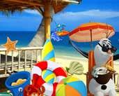 Play Frozen Olaf beach Resort