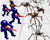 Play Stickman Spiders Battle Simulator